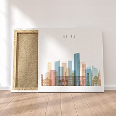 Beirut framed canvas wall art