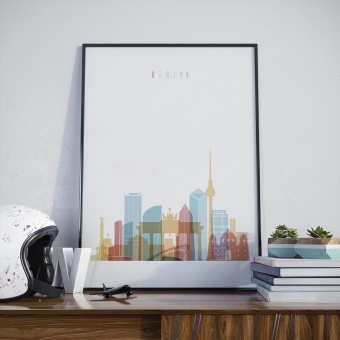 Berlin skyline print , Germany decorations for wall