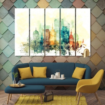 Helsinki wall decor and home accents, Finland design wall art