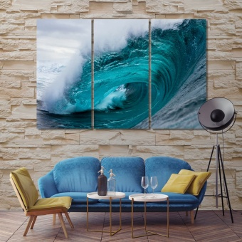 Ocean waves canvas prints art, big wave wall decor and home accents