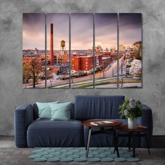 Richmond canvas decor, Virginia bedroom wall decorations