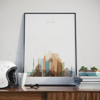Cairo wall decor poster, Egypt dining room wall art