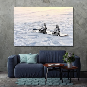 Snowboard wall art canvas painting, art for the home