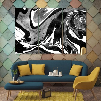 Black & white abstract canvas wall pictures, cool art for your room