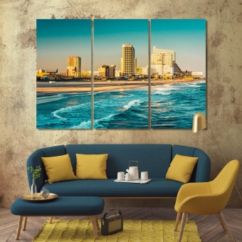 Atlantic City photo filter print canvas art, New Jersey art for home