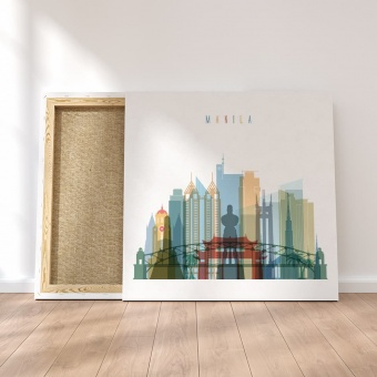 Manila framed canvas wall art, Philippines dining room art