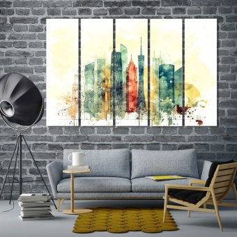 Guangzhou wall pictures for living room, China wall decor art