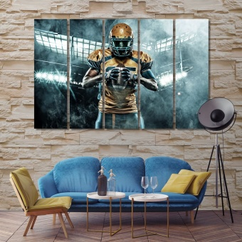 American football player canvas wall art contemporary