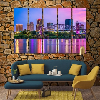 Little Rock wall decor prints, Arkansas canvas art work