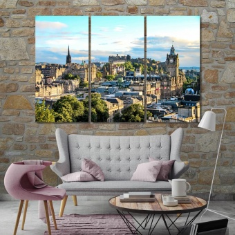 Edinburgh art deco home decor,  Scotland cool canvas art
