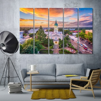 Athens canvas art prints, Georgia picture wall decor
