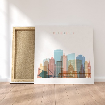 Milwaukee framed canvas wall art, Wisconsin art home