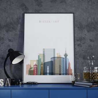 Dusseldorf wall art print, Germany living room wall art ideas
