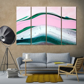 Colorful abstract painting wall decorating ideas with pictures