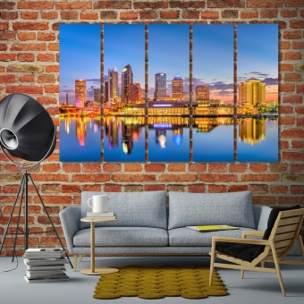 Tampa art for living room walls, Florida wall decor paintings