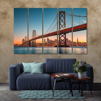 Oakland Bay Bridge canvas prints art