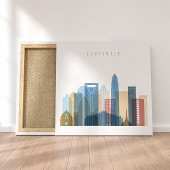 Charlotte canvas wall pictures, North Carolina artwork pictures