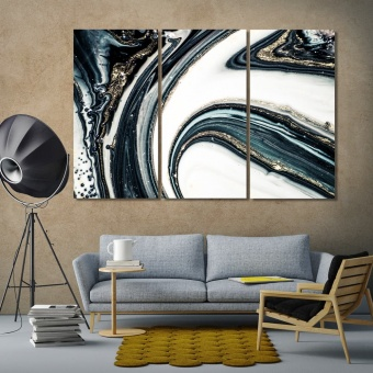 Beautiful marbleized effect abstract art wall