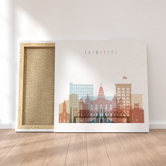 Lafayette canvas art, Indiana dining room artwork