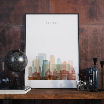 Albany living room poster, ‎New York wall decor prints