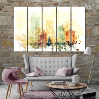 Tulsa canvas prints art, Oklahoma wall decoration ideas
