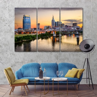 Nashville large wall art canvas