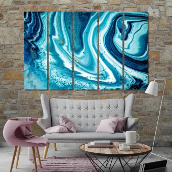 Marine abstract art, wall decorating ideas with pictures