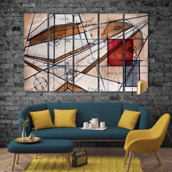 Maths abstract contemporary painting on canvas print