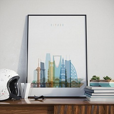 Riyadh art print, Saudi Arabia living room artwork