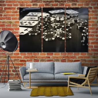 casino game print canvas art