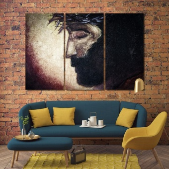 Jesus Christ portrait oil painting on canvas wall decor