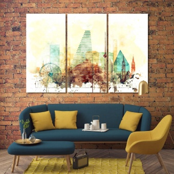 Basel wall decor and home accents, Switzerland canvas art work