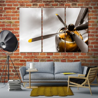 Airplane propeller decorations for living room walls