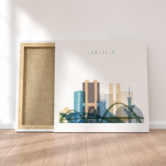 brasilia canvas wall decor